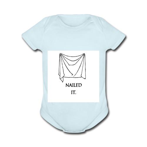 Nailed it - Organic Short Sleeve Baby Bodysuit