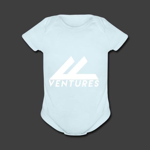 Vanity Ventures White Logo - Organic Short Sleeve Baby Bodysuit