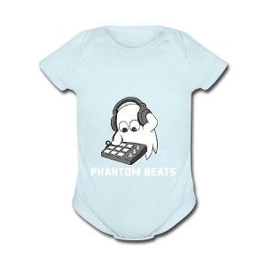 PhantomBeats Official Logo 2 - Short Sleeve Baby Bodysuit