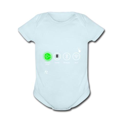airplane_flight - Organic Short Sleeve Baby Bodysuit