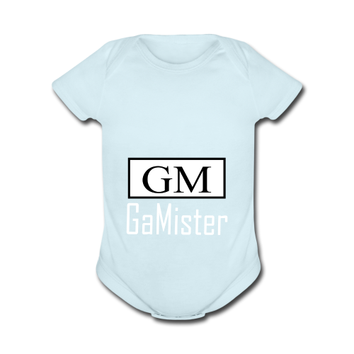 gamister_shirt_design_1_back - Organic Short Sleeve Baby Bodysuit