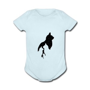 cats night - Short Sleeve Baby Bodysuit