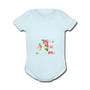 AE Floral design - Short Sleeve Baby Bodysuit