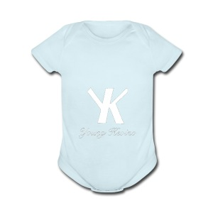 Young Kevino Official Logo (White) - Short Sleeve Baby Bodysuit