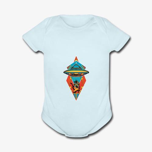 Space Pharaoh - Organic Short Sleeve Baby Bodysuit