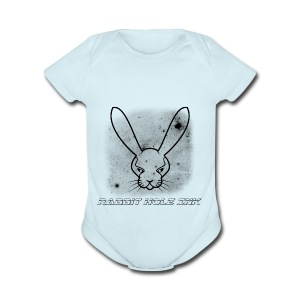 Rabbit Hole Ink Representing - Short Sleeve Baby Bodysuit