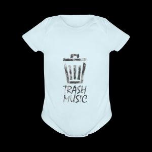 Grey Trash Logo - Short Sleeve Baby Bodysuit
