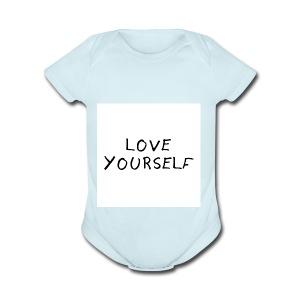 loveyourself - Short Sleeve Baby Bodysuit
