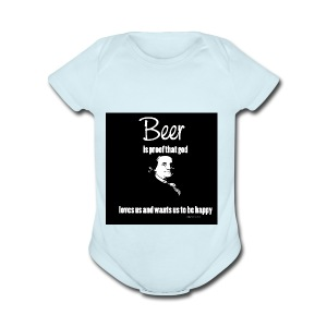 Beer T-shirt - Short Sleeve Baby Bodysuit