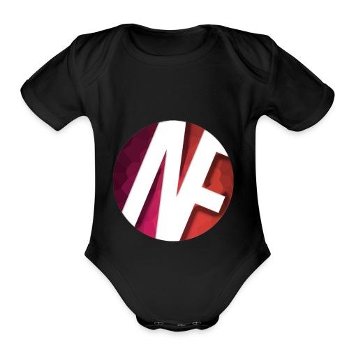 Nameless Films Logo - Organic Short Sleeve Baby Bodysuit