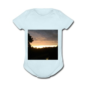 Country side sunset - Short Sleeve Baby Bodysuit