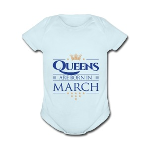 Queen of March 02 - Short Sleeve Baby Bodysuit