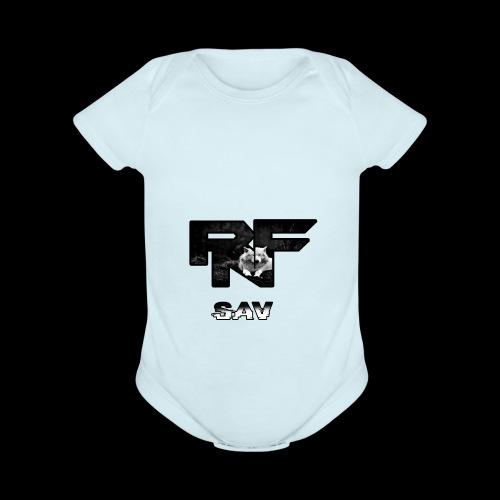 RnF Savs Custum Logo - Organic Short Sleeve Baby Bodysuit