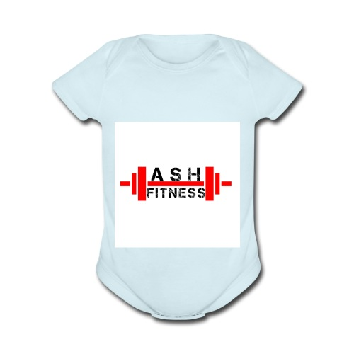 ASH FITNESS MUSCLE ACCESSORIES - Organic Short Sleeve Baby Bodysuit