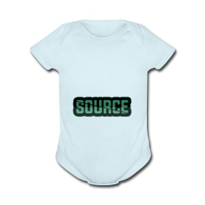 Green and Black Source Logo - Short Sleeve Baby Bodysuit