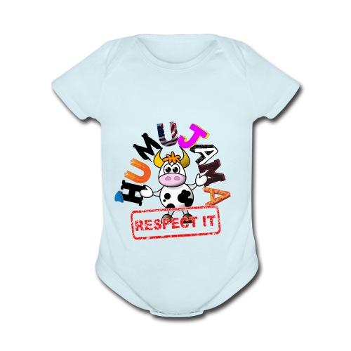 HUMUJAMA - Organic Short Sleeve Baby Bodysuit