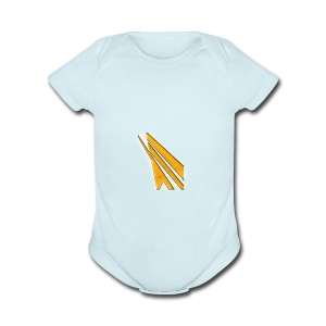 gold logo - Short Sleeve Baby Bodysuit