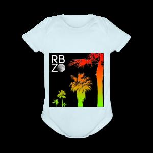 rbz south florida palm trees - Short Sleeve Baby Bodysuit