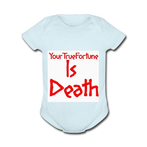 YOUR TRUE FORTUNE - Organic Short Sleeve Baby Bodysuit