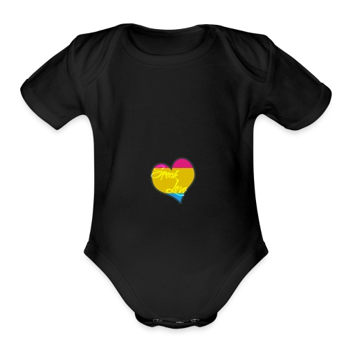Speak Love Pan - Organic Short Sleeve Baby Bodysuit