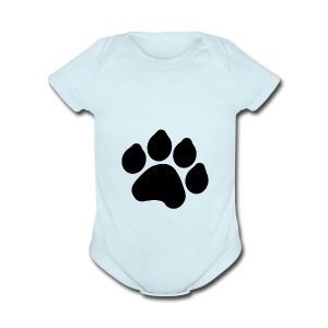 Black Paw Stuff - Short Sleeve Baby Bodysuit