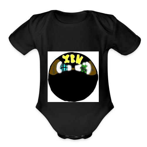 YOUNG RICH NINJA LOGO - Organic Short Sleeve Baby Bodysuit