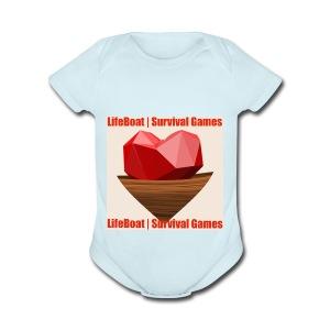 LifeBoat Custom Logo - Short Sleeve Baby Bodysuit