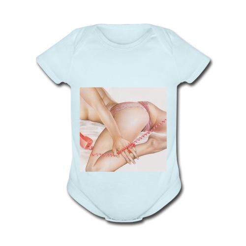 On da phone - Organic Short Sleeve Baby Bodysuit