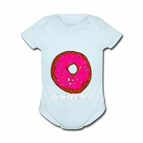 Doughnut Design - Organic Short Sleeve Baby Bodysuit