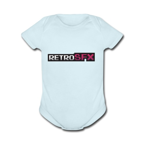 RetroSFX logo - Organic Short Sleeve Baby Bodysuit
