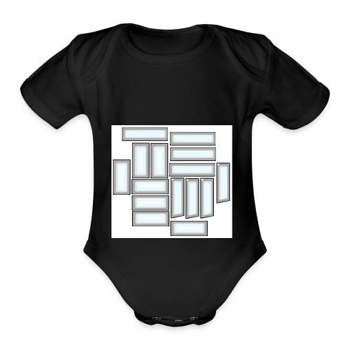 KD15 Logo - Organic Short Sleeve Baby Bodysuit