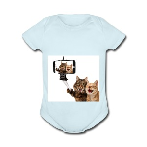 selfi-wallpaper-10928212 - Short Sleeve Baby Bodysuit