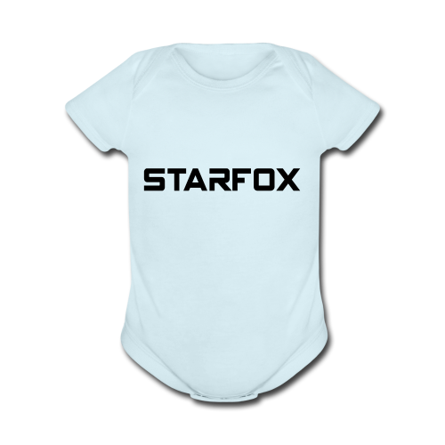 STARFOX Text - Organic Short Sleeve Baby Bodysuit