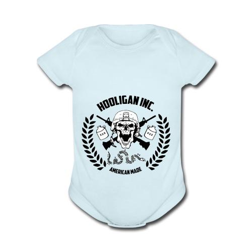 300 dpi - Organic Short Sleeve Baby Bodysuit