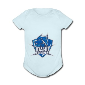 Idaho Horsemen Shield - Short Sleeve Baby Bodysuit