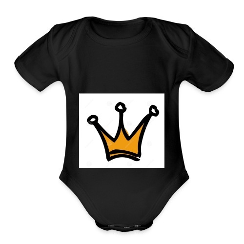 crown-1196222 - Organic Short Sleeve Baby Bodysuit