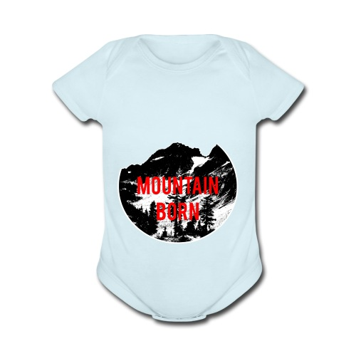 Mountain Born - Organic Short Sleeve Baby Bodysuit