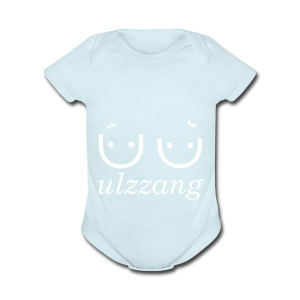 Ulzzang - Best Face - Short Sleeve Baby Bodysuit