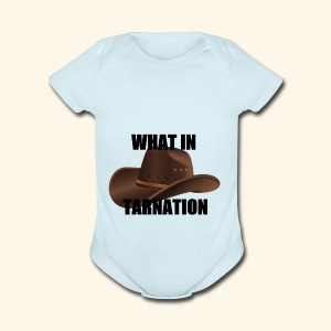 What In Tarnation Meme - Short Sleeve Baby Bodysuit