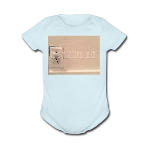 Casey Pierce banner art - Short Sleeve Baby Bodysuit