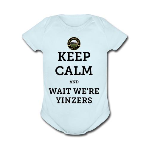 Keep Calm - Organic Short Sleeve Baby Bodysuit
