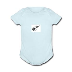 tribal koi - Short Sleeve Baby Bodysuit