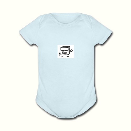 None - Organic Short Sleeve Baby Bodysuit