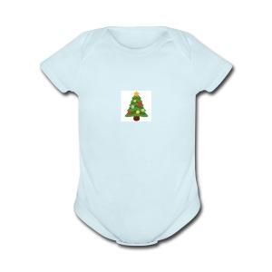 MoreWithDede christmas merch - Short Sleeve Baby Bodysuit