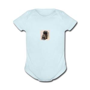 Vintage Camera - Short Sleeve Baby Bodysuit