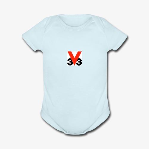 Mini Logo - Organic Short Sleeve Baby Bodysuit