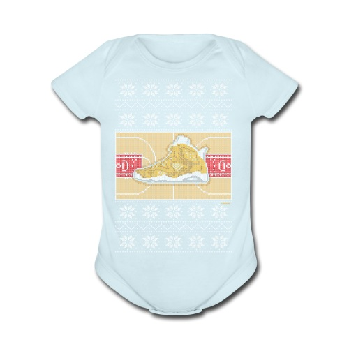 Retro6Sweater - Organic Short Sleeve Baby Bodysuit