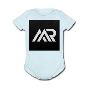 mr.miner logo - Short Sleeve Baby Bodysuit