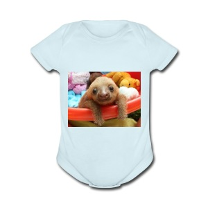 Baby Sloth Products! - Short Sleeve Baby Bodysuit