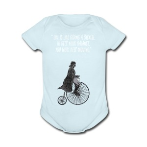 Life is like riding a bicycle - Short Sleeve Baby Bodysuit